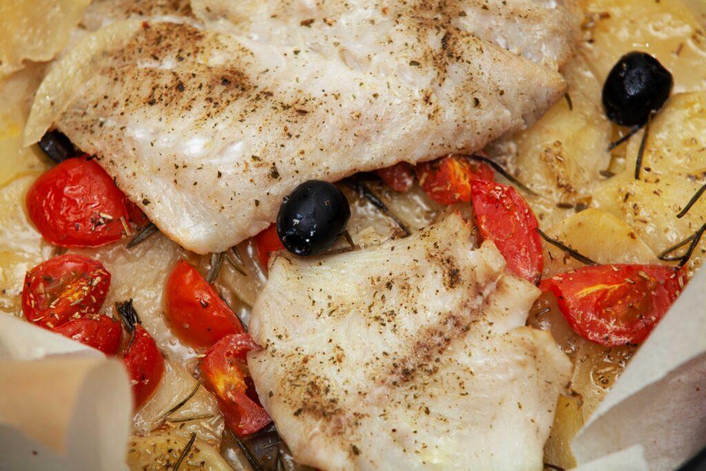 Filetto di cernia al forno con patate - Padelle Volanti