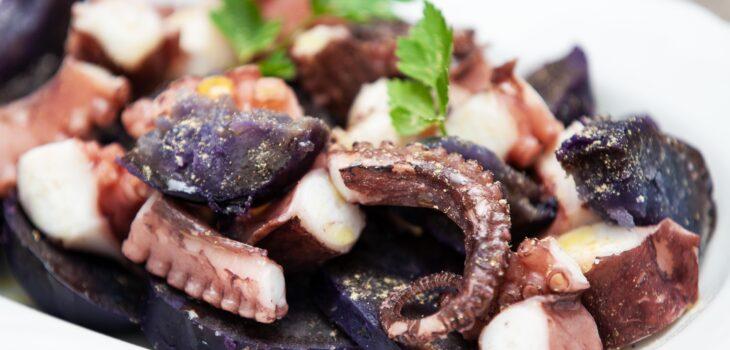Insalata di polpo e patate viola - Padelle Volanti