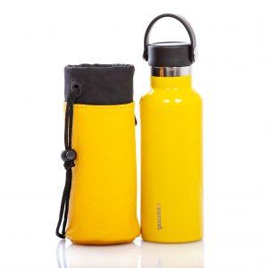 Bottiglia Fratelli Guzzini + portabottiglia in pelle Cinzia Rossi